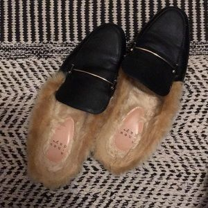 TARGET Slipper Loafers (in black faux leather)
